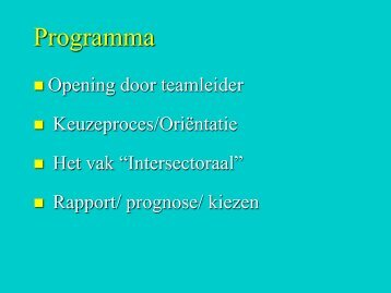 Programma - Stanislas College