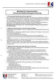 Merkblatt Schweine Tierschutz ... - Landkreis Freyung-Grafenau