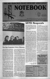 August 1989 - San Francisco Police Officers Association