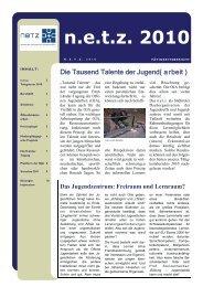 Tätigkeitsbericht n.e.t.z. 2010