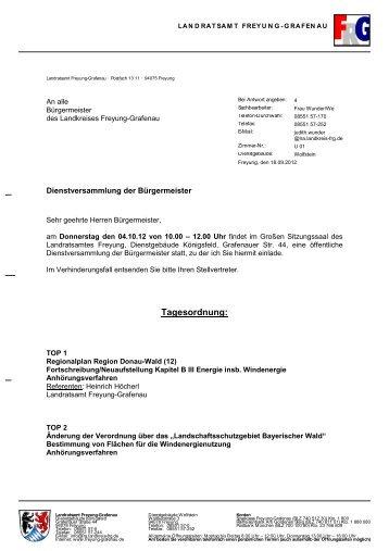 Donnerstag, 04.10.2012 - Landkreis Freyung-Grafenau