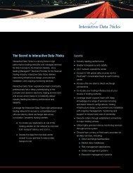 The Secret is Interactive Data 7ticks - Interactive Data Corporation