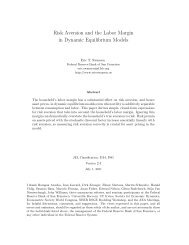 Risk Aversion and the Labor Margin in Dynamic ... - Dynare
