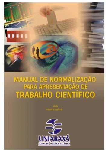 MANUAL DE NORMALIZAÇÃO - Uniaraxá