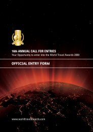 16th ANNUAL CALL FOR ENTRIES - World Travel Awards