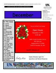 2011 December Newsletter - Bullitt County Cooperative Extension