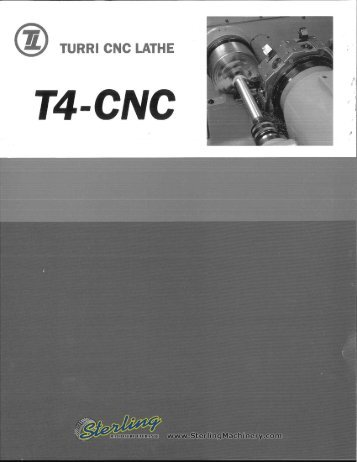 Turri CNC Lathe T4-CNC Brochure - Sterling Machinery