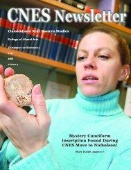 Fall 2006 (PDF) - Classical & Near Eastern Studies - University of ...