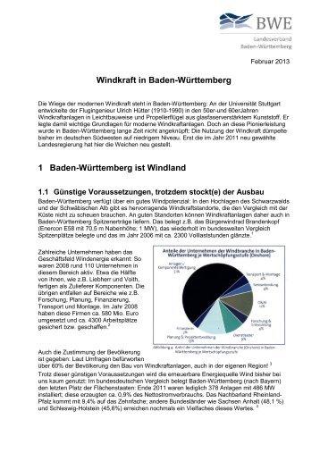 Windkraft in Baden-Württemberg - Bundesverband WindEnergie eV