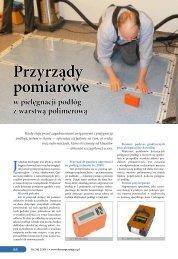 Przyrządy pomiarowe w pielęgnacji podłóg z warstwą polimerową