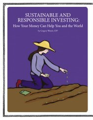 responsible investing - Whole Person Calendar of Events