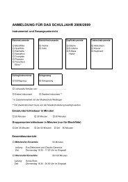 Fächerangebot MS Würenlos 2008-09 - Schule Würenlos