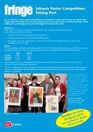 Schools Poster Competition: Taking Part - Edinburgh Festival Fringe