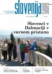 Slovenci v Dalmaciji v varnem pristanu - Urad Vlade Republike ...