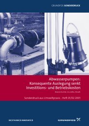 Abwasserpumpen: Konsequente Auslegung senkt ... - Grundfos