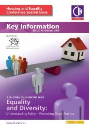 Equality and Diversity: - Chartered Institute of Housing