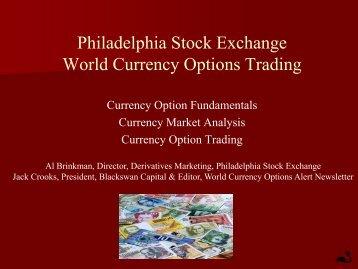 Philadelphia Stock Exchange World Currency Options Trading