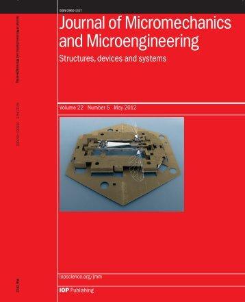 Monolithic fabrication of millimeter-scale machines - Harvard ...
