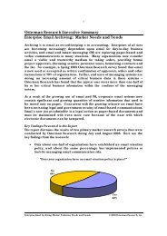 Osterman Research Executive Summary Enterprise Email Archiving ...