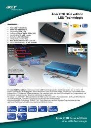 Acer C20 Blue edition LED-Technologie Acer ... - ALLProjectors.RU