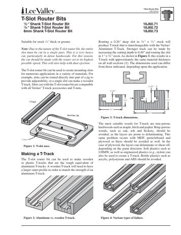 T-Slot Router Bits - Lee Valley Tools