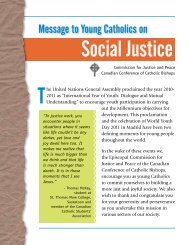 Message to Young Catholics on Social Justice