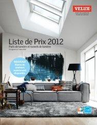 Liste de Prix 2012 - Velux