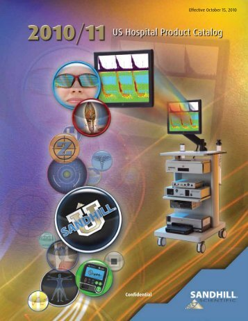 2010/11 US Hospital Product Catalog - Sandhill Scientific