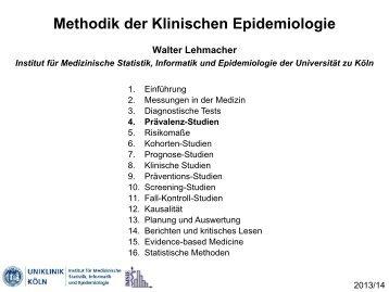 Fall-Kontroll-Studien - Institut für Medizinische Statistik ...