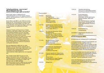 'Teilzeitausbildung' (PDF)
