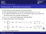 Drehimpulse in Mehrelektronensystemen