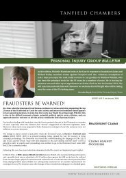 Link to newsletter - Tanfield Chambers