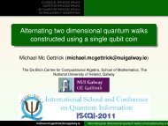 Alternating two dimensional quantum walks constructed using a ...