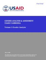 USAID Gender Analysis - I Learn in Cambodia.org