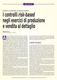 I controlli risk-based negli esercizi di produzione e vendita ... - SIVeMP