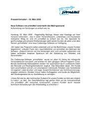 Presseinformation – 03. März 2008 Neue Software von primeMail ...