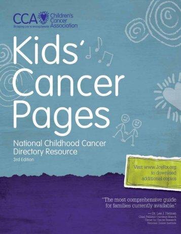 Kid's Cancer Pages - Children's Cancer Association