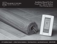 warmly yours instruction manual.pdf - Northland Construction Supplies