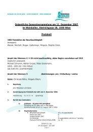 Ordentliche Generalversammlung am 11. Dezember 2007 im ...