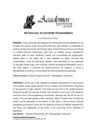 MÉTODO ÁGIL XP (EXTREME PROGRAMMING) - Intranet.fia.edu.br