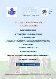 2012 Anno della famiglia di San Giovanni di Dio - fondazione un ...