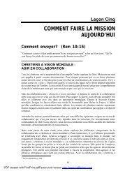 Leçon 5.pdf - Missiologie.net