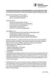lich anerkannte/n Erzieher/in für seine k - Deutscher Kinderschutzbund
