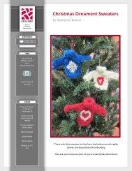 Christmas Ornament Sweaters - Kraemer Yarns