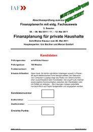 Finanzplanung für private Haushalte