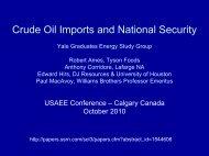 Energy Policy or Economics