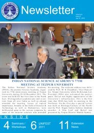 Newsletter Volume 6 Issue 2 - Tezpur University