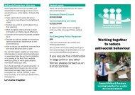 Anti-social behaviour - Sevenoaks District Council