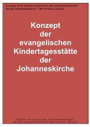 Konzept der evangelischen Kindertagesstätte der Johanneskirche