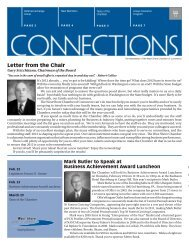 Letter from the Chair - West Shore Chamber of Commerce